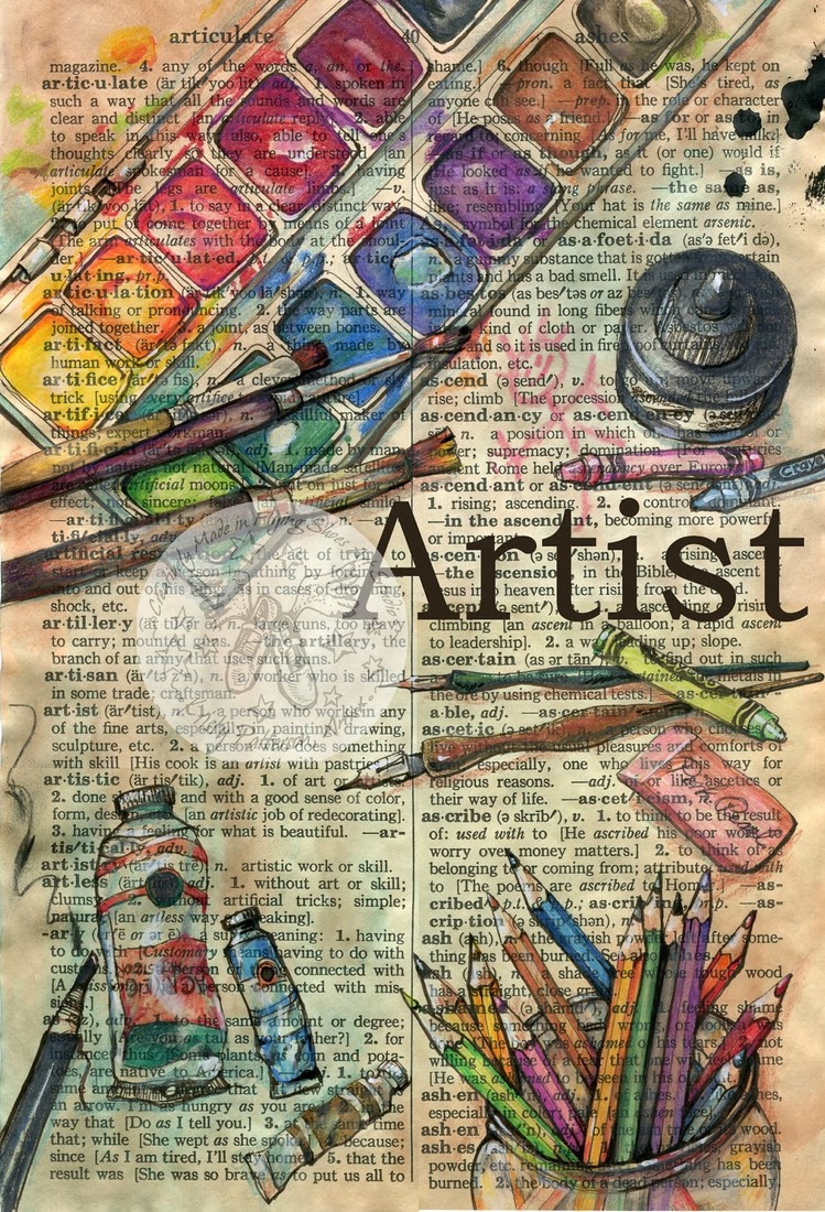 02-Artist-Kristy-Patterson-Flying-Shoes-Art-Studio-Dictionary-Drawings-www-designstack-co