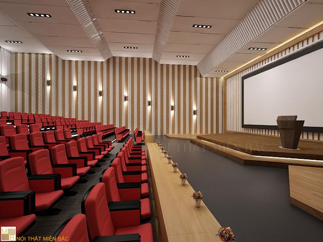 Thiết kế hội trường sử dụng ghế hội trường nhập khẩu