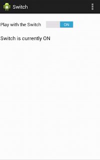 Android switch button ON state