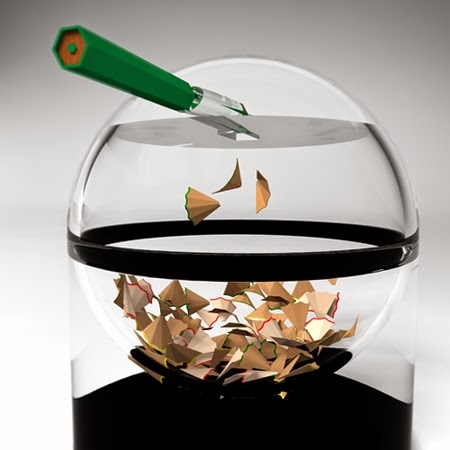 Futuristic Pencil and Sharpener