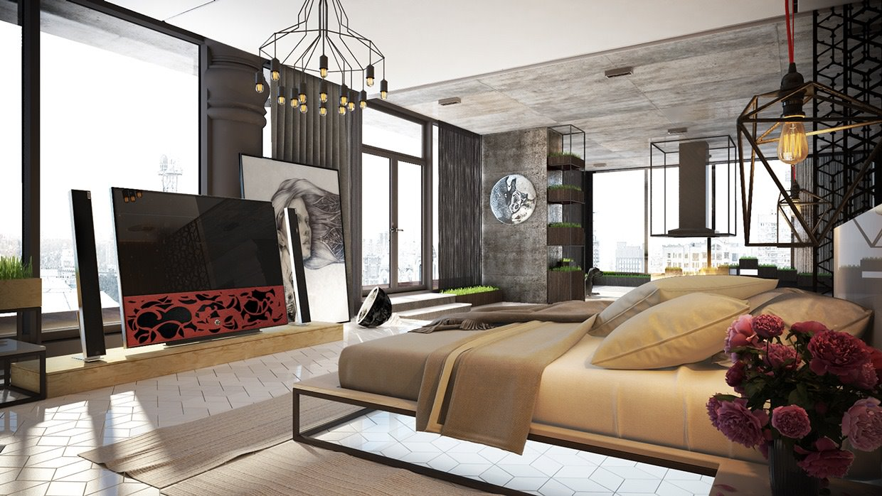 Modern Industrial Bedroom Industrial Bedrooms Design Inspiration Be Inspired