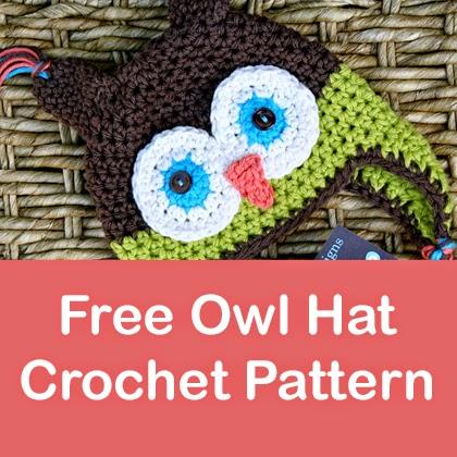 Free Owl Hat Crochet Pattern