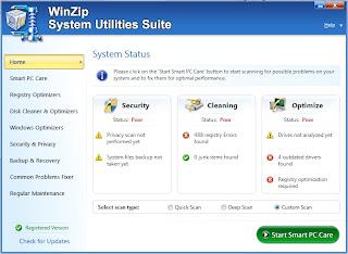 Optimalkan Performa PC dengan WinZip System Utilities Suite