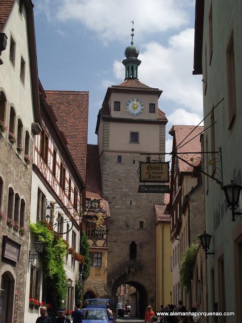 Ruazinhas de Rothenburg ob der Tauber