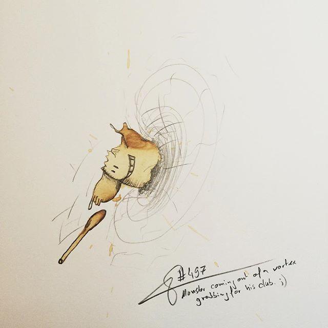 16-Mowsbi-Stefan-Kuhnigk-Monster-Drawings-within-Coffee-Stains-www-designstack-co