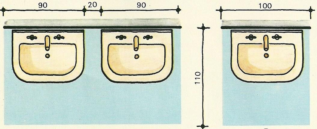 M nica dise os las medidas en los ba os for Medidas de un inodoro