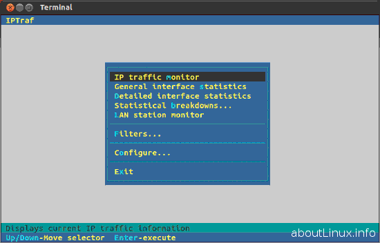 iptraf network monitor