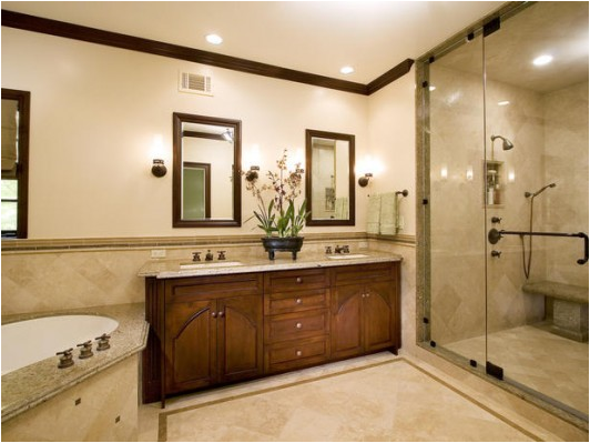 Transitional Master Bathroom Ideas : Key interiors by shinay transitional bathroom design ideas