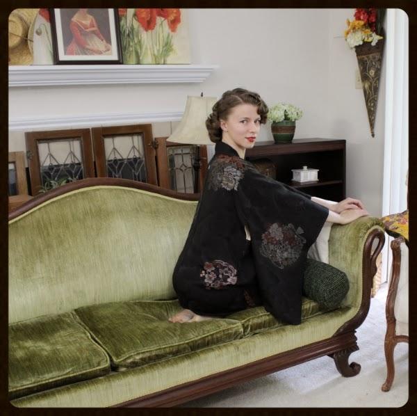 My Vintage Kimono Love #vintage #kimono #lingerie #fashion