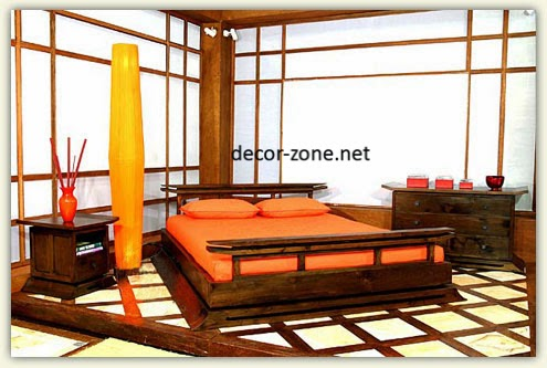 25 bedroom designs in Japanese style - lighting, colors, accessories