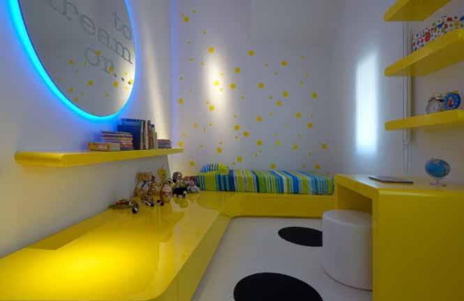 Desain Ruang Interior Rumah Warna Kuning