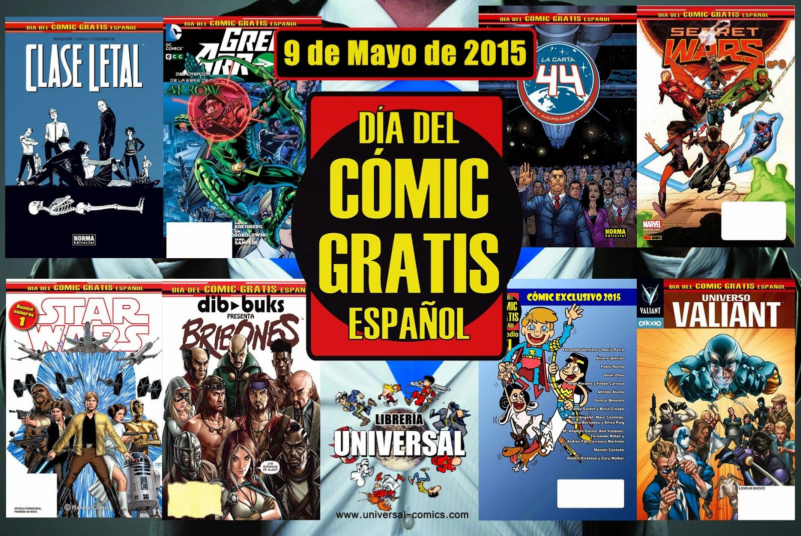 Día del Cómic Gratis Español en Librería Universal