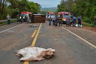 Choque entre veículos deixa três mortos em Ribeirão Bonito