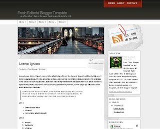 blogger template,template,Fresh Editorial