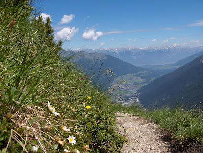 Austrian Alps mountain track