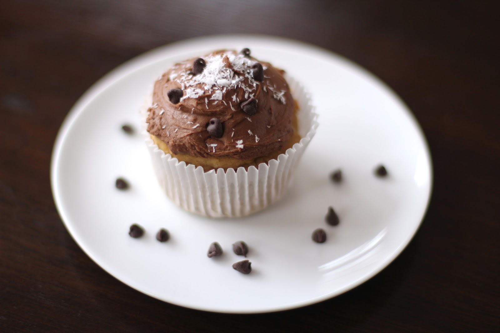 Healthy Coconut Quinoa Cupcakes with Chocolate Frosting (sugar free, low fat, high protein, gluten free, vegan)