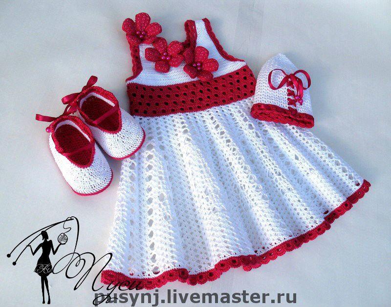 Muito Bianca Na Rede: Vestido de croche infantil PZ61