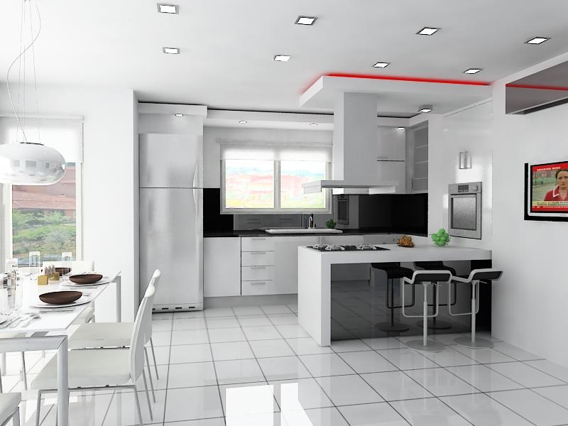 Desain dapur kontemporer untuk dapur rumah minimalis modern