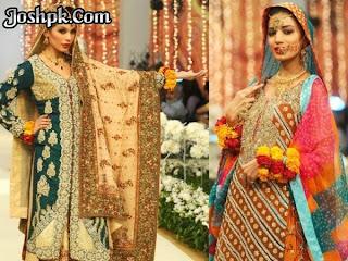 Pakistani Designer Mehndi Dresses For Function 2013