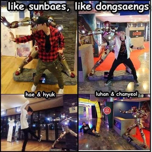 Gambar-gambar ini gue ambil dari SM Town Salah gaul, Facebook, Twitter