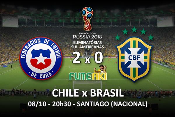 Veja o resumo da partida com os gols e os melhores momentos de Chile 2x0 Brasil pela 1ª rodada das Eliminatórias para Copa do Mundo 2018