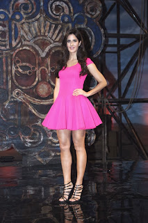 Actress Katrina Kaif  Pictures in Pink Short Dress at Dhoom 3 Movie Merchandise Launch  0021.jpg