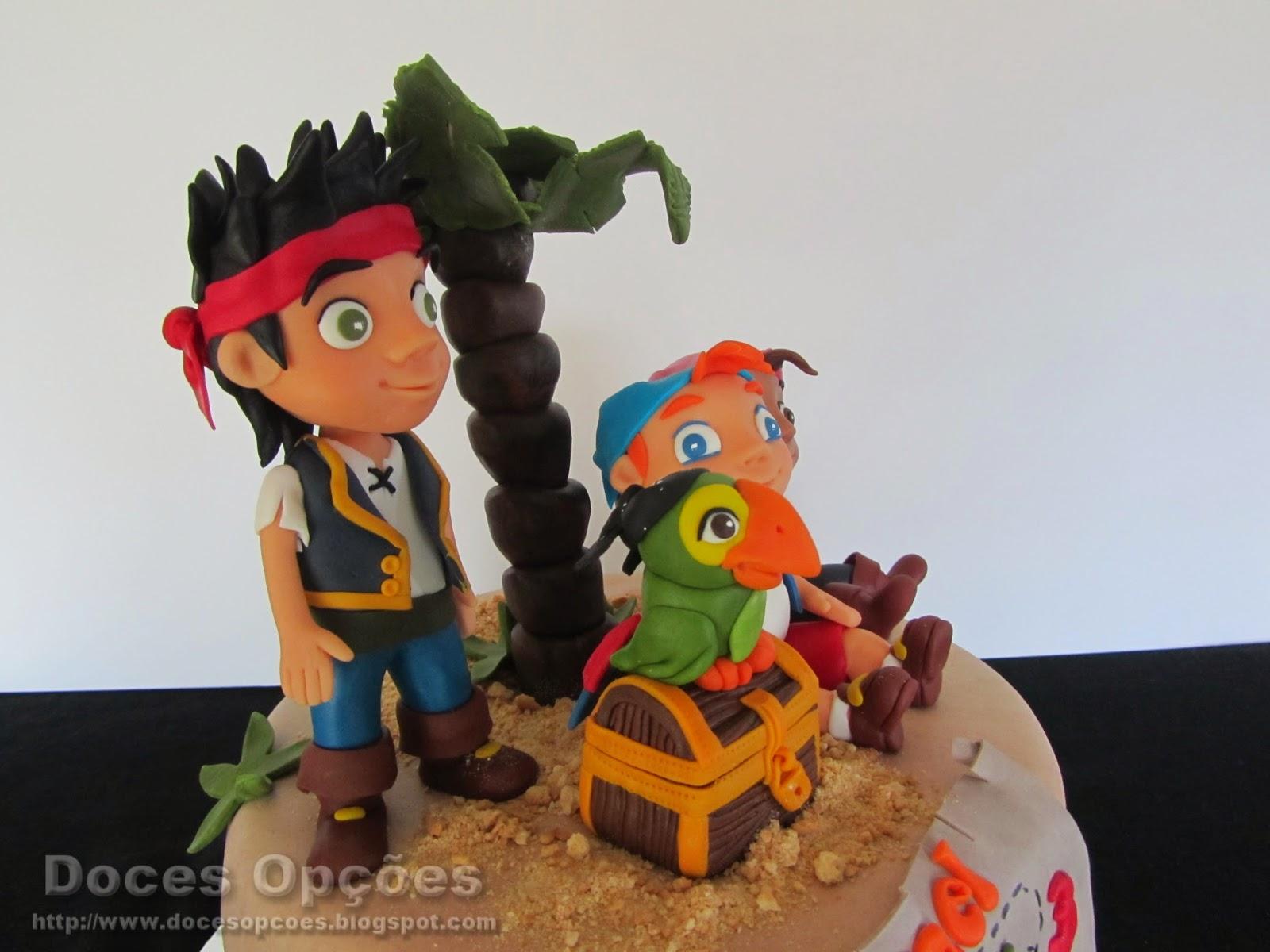 Bolo do aniversário do Rafael com o Jake e os Piratas da Terra do Nunca