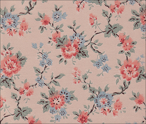 Blue rose wallpaper floral wallpaper for Wallpaper home vintage