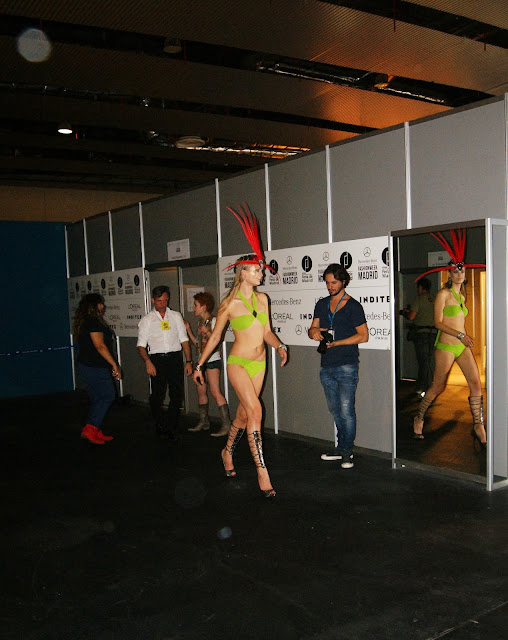 Montse Bassons fashion show backstage