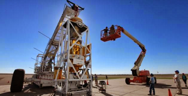 The Balloon Rapid Response for Comet ISON (BRRISON) completes pre-flight testing at NASA's Columbia Scientific Balloon Facility in Fort Sumner, New Mexico. Credit: CNN