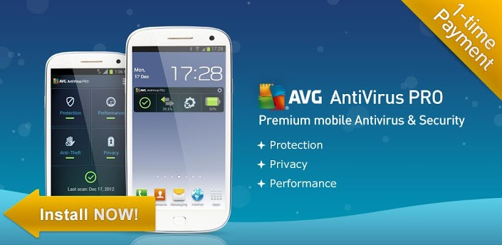 AVG Antivirus Pro v3.11 Free Download For Android
