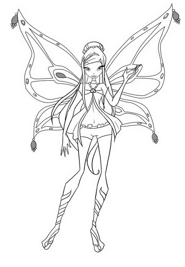 Flora Winx para colorear - Dibujo Views