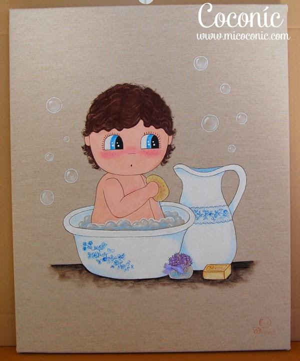 cuadro infantil niña personalizado decoración