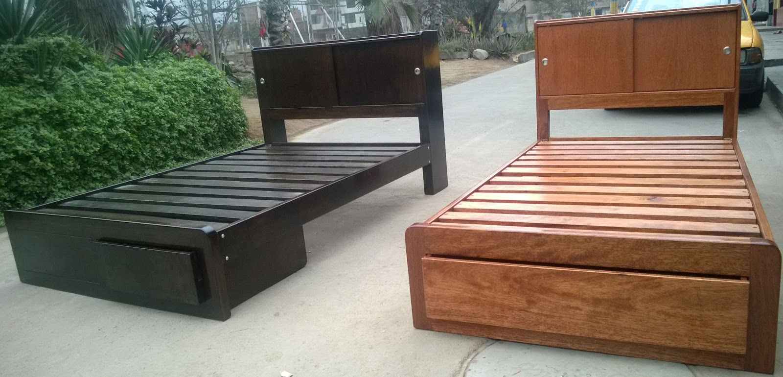 Cama de dos plazas modelos exclusivos carpinter a - Camas de obra ...