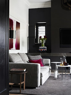 Dark Colors With Some White Decoration