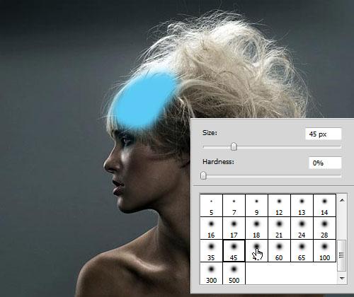 Мягкая кисть в Photoshop CS5