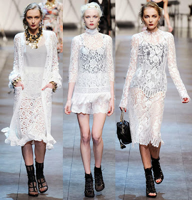 HVB Vintage Wedding Blog: A guide to lace wedding dresses - Dolce & Gabbana lace dresses