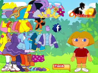 Juego vestir Dora exploradora