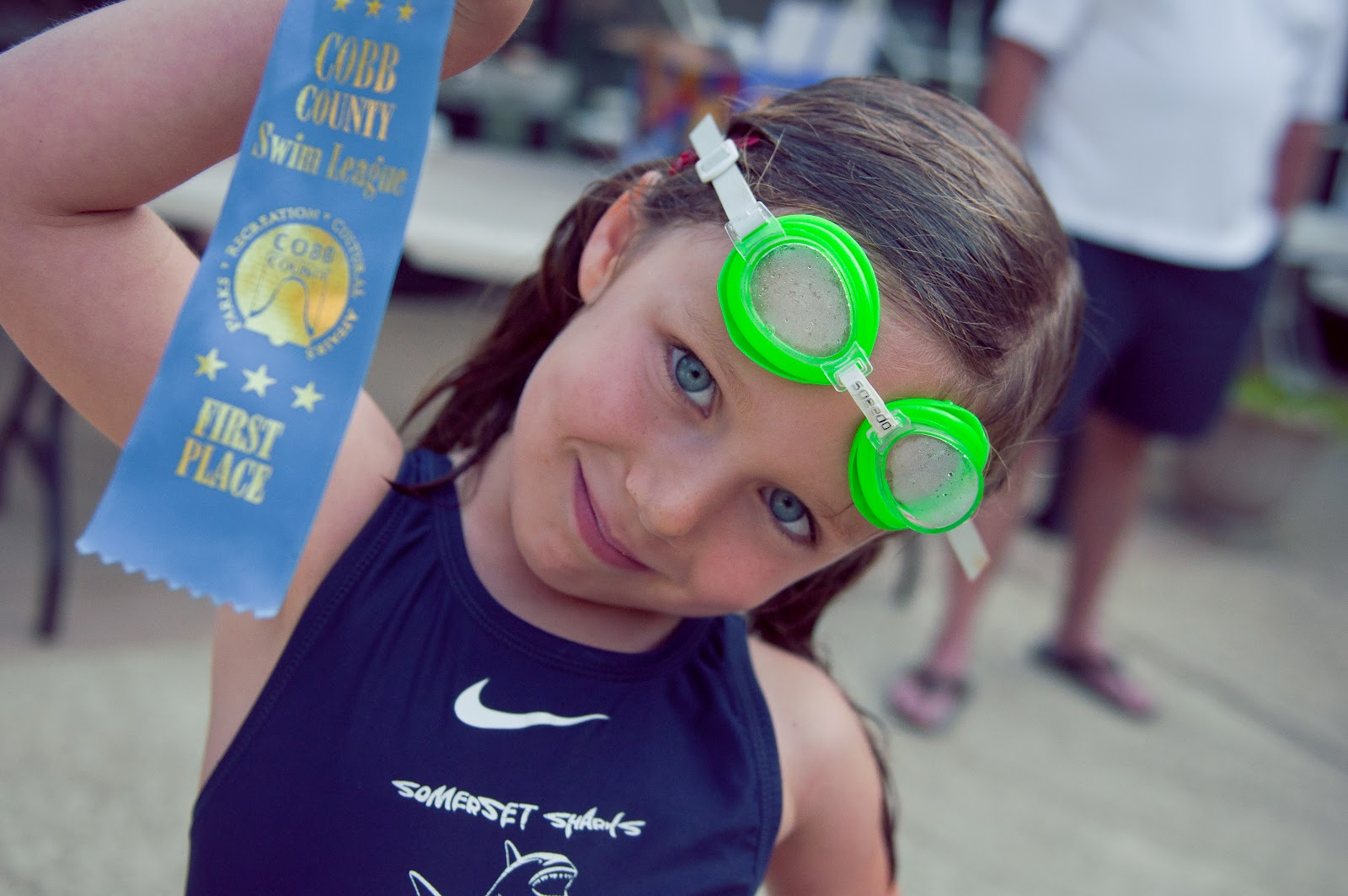 Outnumbered And Overjoyed First Swim Meet