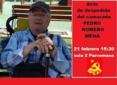 Acto de despedida del camarada Pedro Romero