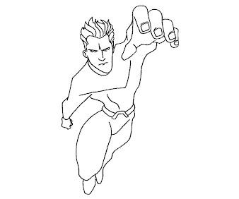#5 Aquaman Coloring Page