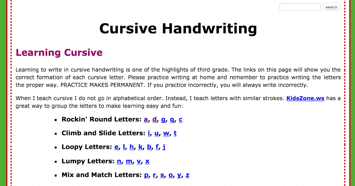 cursive letter formation images letter format formal example
