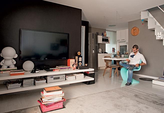 Sala De Tv Preta E Cinza ~ blog de decoração  Arquitrecos Paredes pretas vieram para ficar!