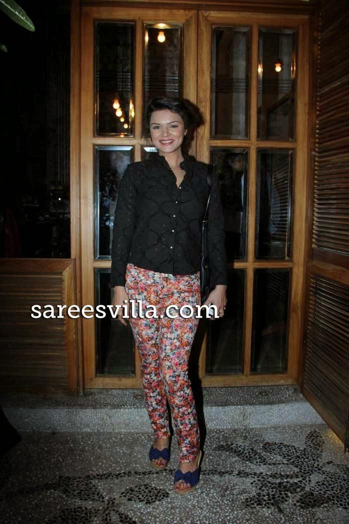 Television actresses Aashka Goradia