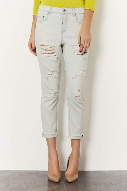 bleached ripped jeans
