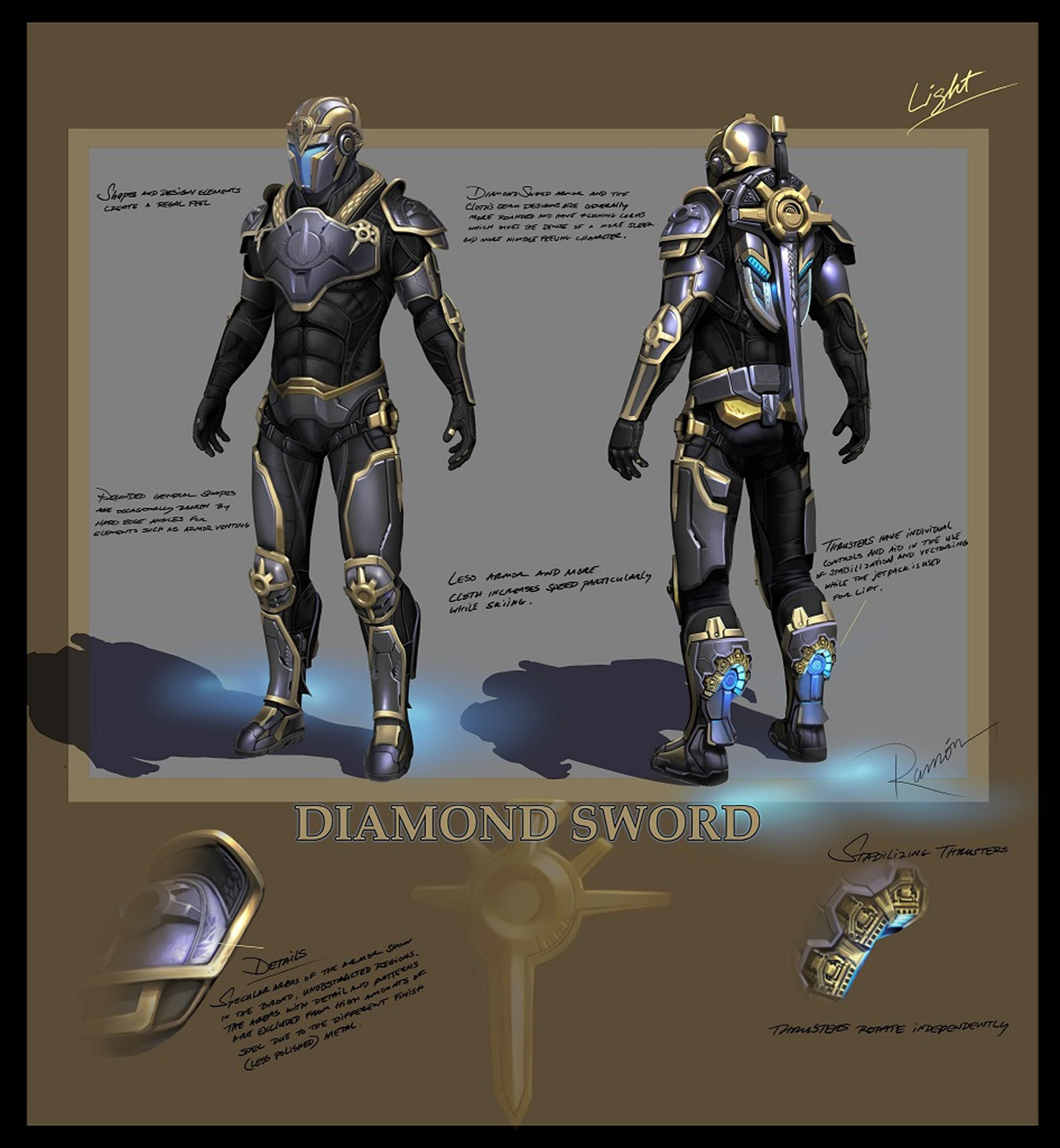 Tribes ascend heavy armor sci fi soldier concept design for Sci fi decor