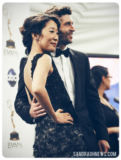 sandra oh and patrick dempsey at the emmys