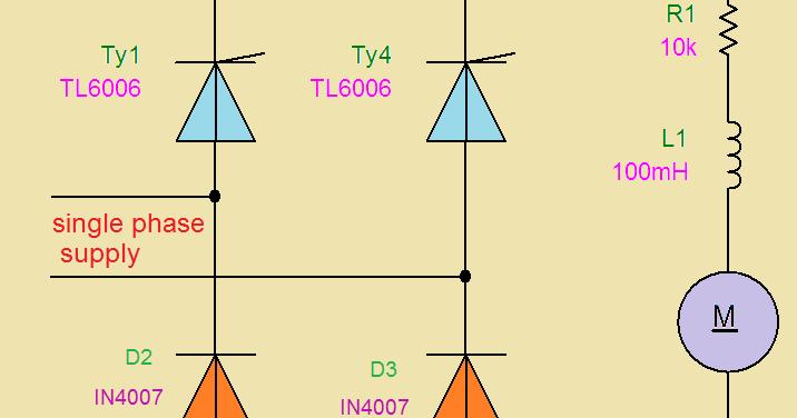 Single Phase Semi And Full Converter Dc Series Motor