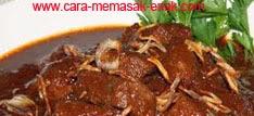 resep praktis dan mudah membuat (memasak) masakan malbi daging spesial khas palembang enak, gurih, lezat