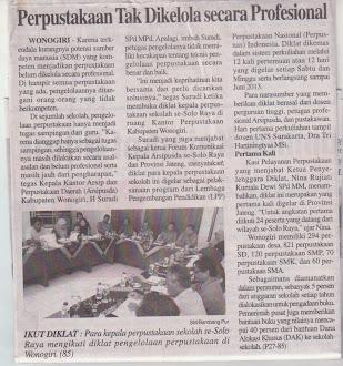 Harian Suara Merdeka edisi senin, 6 mei 2013
